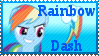 MLP Rainbow Dash Stamp by Knightmare-Moon