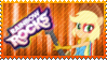 Rainbow Rocks Applejack Stamp by Knightmare-Moon