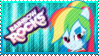 Rainbow Rocks Rainbow Dash Stamp