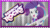 Rainbow Rocks Rarity Stamp by Knightmare-Moon