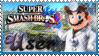 SSB Dr Mario Stamp by Knightmare-Moon