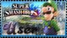 SSB Luigi Stamp by Knightmare-Moon