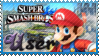SSB Mario Stamp by Knightmare-Moon