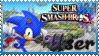 SSB Sonic Stamp by Knightmare-Moon