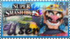 SSB Wario Stamp by Knightmare-Moon