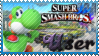 SSB Yoshi Stamp by Knightmare-Moon