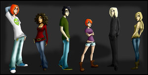 hp line up by Indiewikkan by HogwartsArt