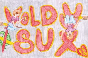 Voldy Sux by gizbear by HogwartsArt