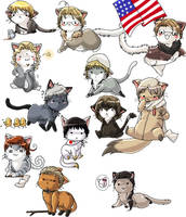 Hetalia kitties by Marth-kun