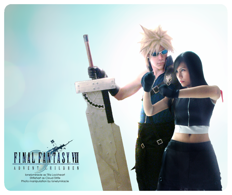 Collab: Cloud and Tifa by lonelymiracle