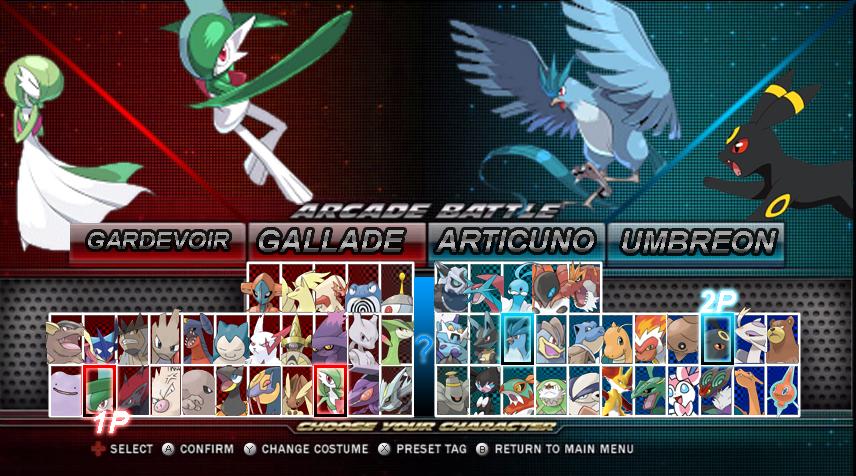 pokken tournament roster select screen by kira sr on deviantart