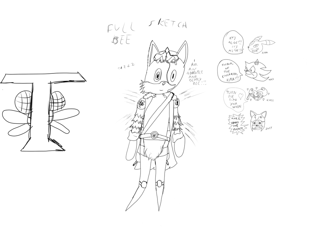 Tails: Lord of the Bees?! Sketch by Kira-SR