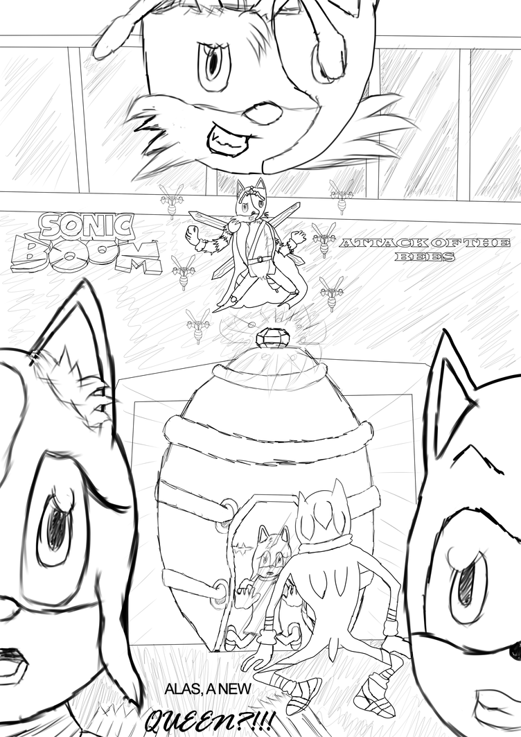 Sonic Boom:Atack of the Bees-Alas, a New...QUEEN?! by Kira-SR