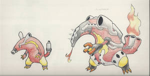 Heatmor - Pre and Post Evolutions