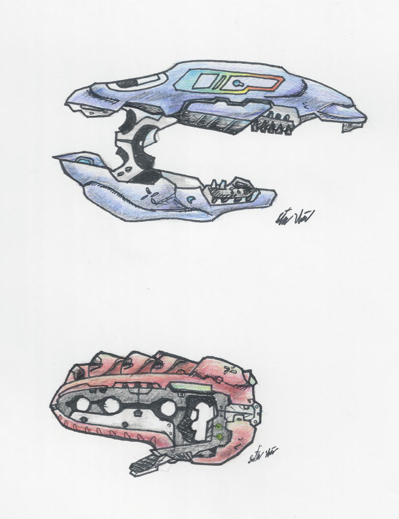 how to draw halo guns