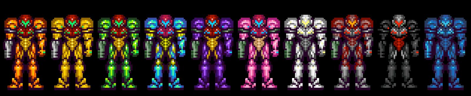 Samus Fusion Suit Sprites Samus Aran - Power Sui...
