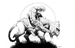He-Man and Battle Cat by Ryan Stegman by AshcanAllstars