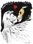 Sorceress and Skeletor of MOTU by Sara Pichelli