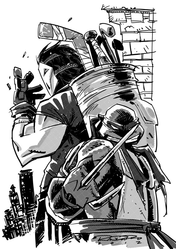 Raphael and Casey Jones by Khary Randolph by AshcanAllstars