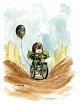 a little late   Judge Dredd by Charles Paul Wilson