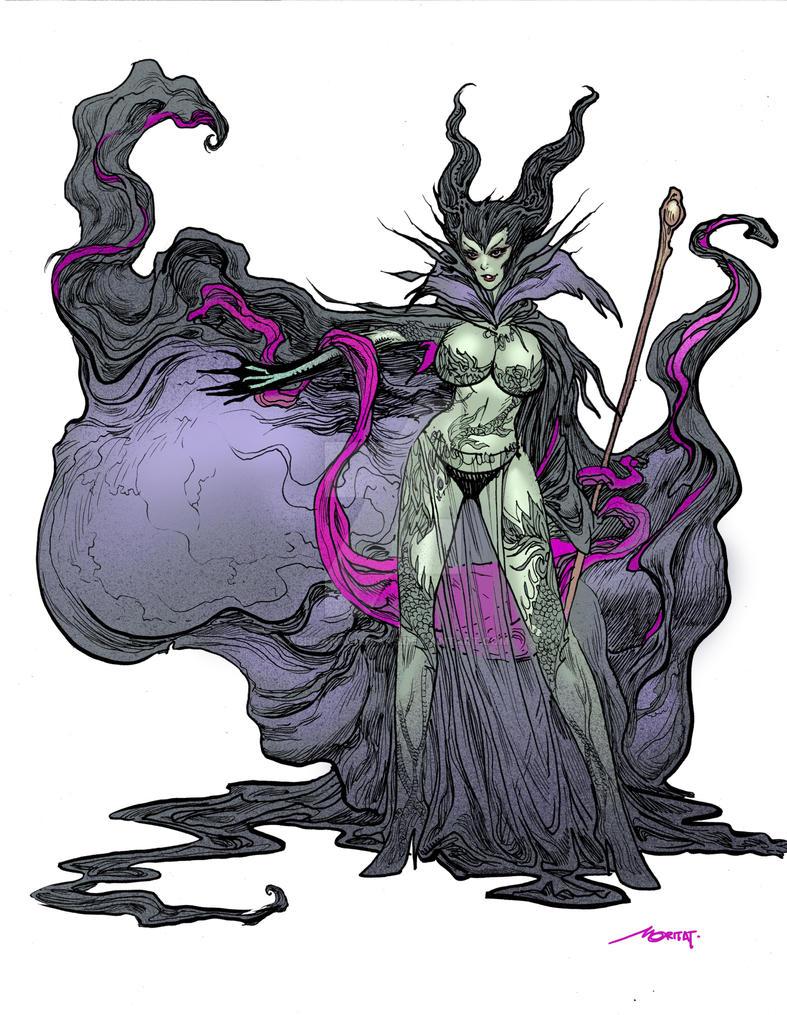 Maleficent by Moritat by AshcanAllstars