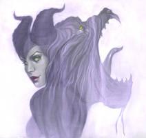 Maleficent by Jenny Frison by AshcanAllstars