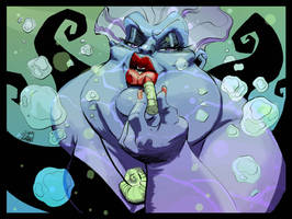 Ursula of The Little Mermaid by Ryan Stegman by AshcanAllstars