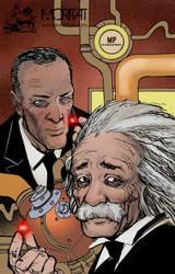 Oppenheimer and Einstein by Moritat