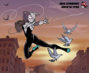 SpiderGwen by Andre Szymanowicz by AshcanAllstars