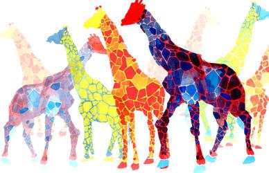 Giraffes by piratepseudoferret