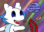 Slivvy has gone cray cray by VCMFoxArtist