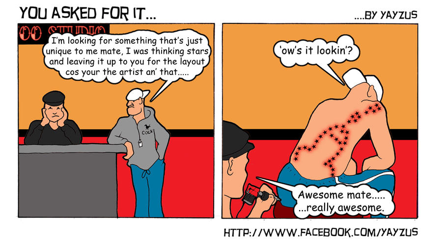 Tattoo master comic strip 3 by yayzus on deviantart for Tattoo shop etiquette