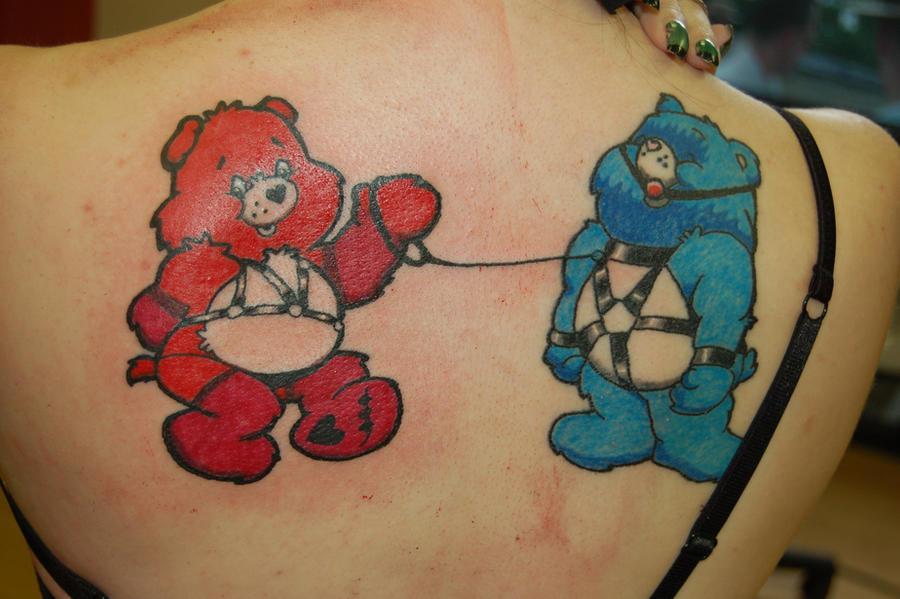 kinky care bears tattoo