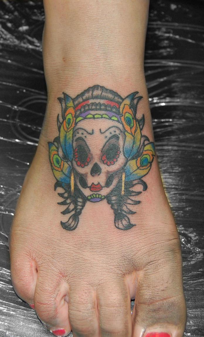 Gypsy sugar skull tattoo by yayzus on DeviantArt  Gypsy sugar sku...
