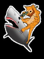 Bearded Kitten Hunting Shark with Bazooka by yayzus