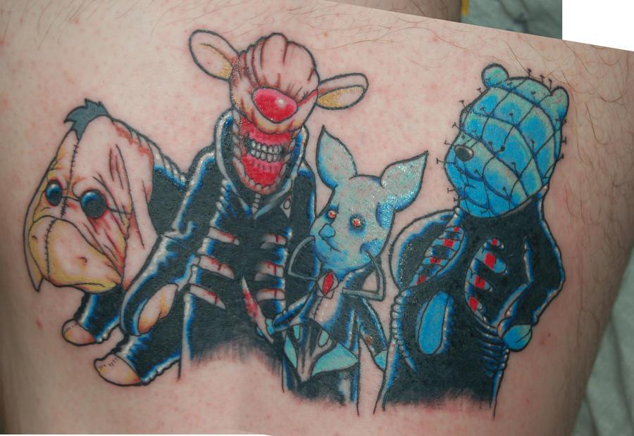 Hellraiser winnie the pooh tattoo by yayzus on deviantart for Winnie the pooh tattoo