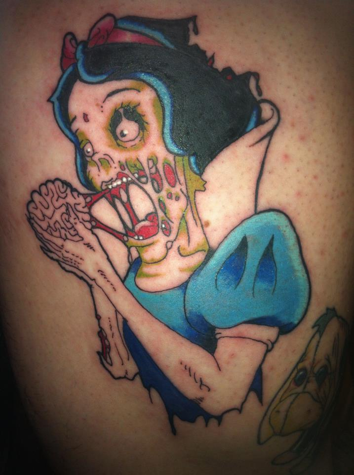 snow white zombie tattoo by yayzus on deviantart. Black Bedroom Furniture Sets. Home Design Ideas