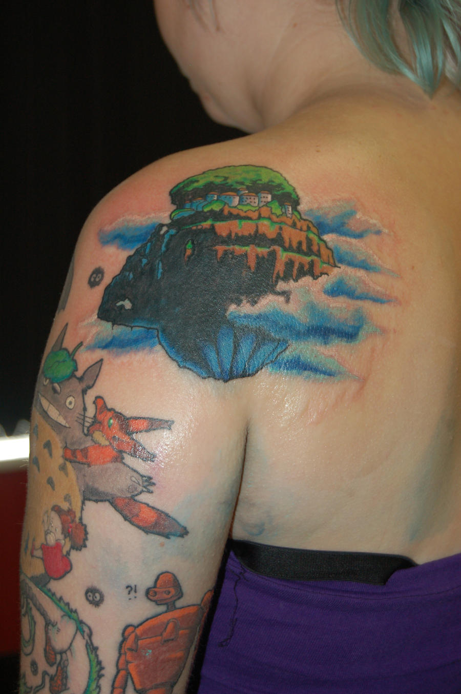 Laputa the floating city tattoo by yayzus