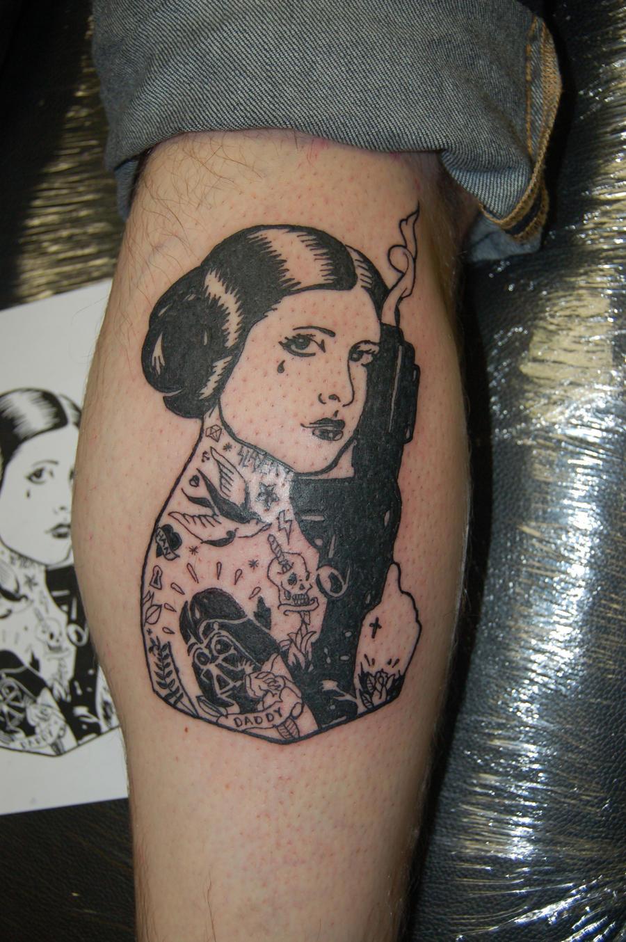 Tattooed Leia Tattoo by yayzus