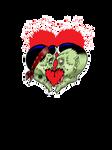 Psychobilly heart splatter