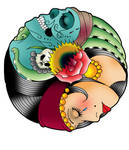 Gypsy Yin Yang Tattoo design
