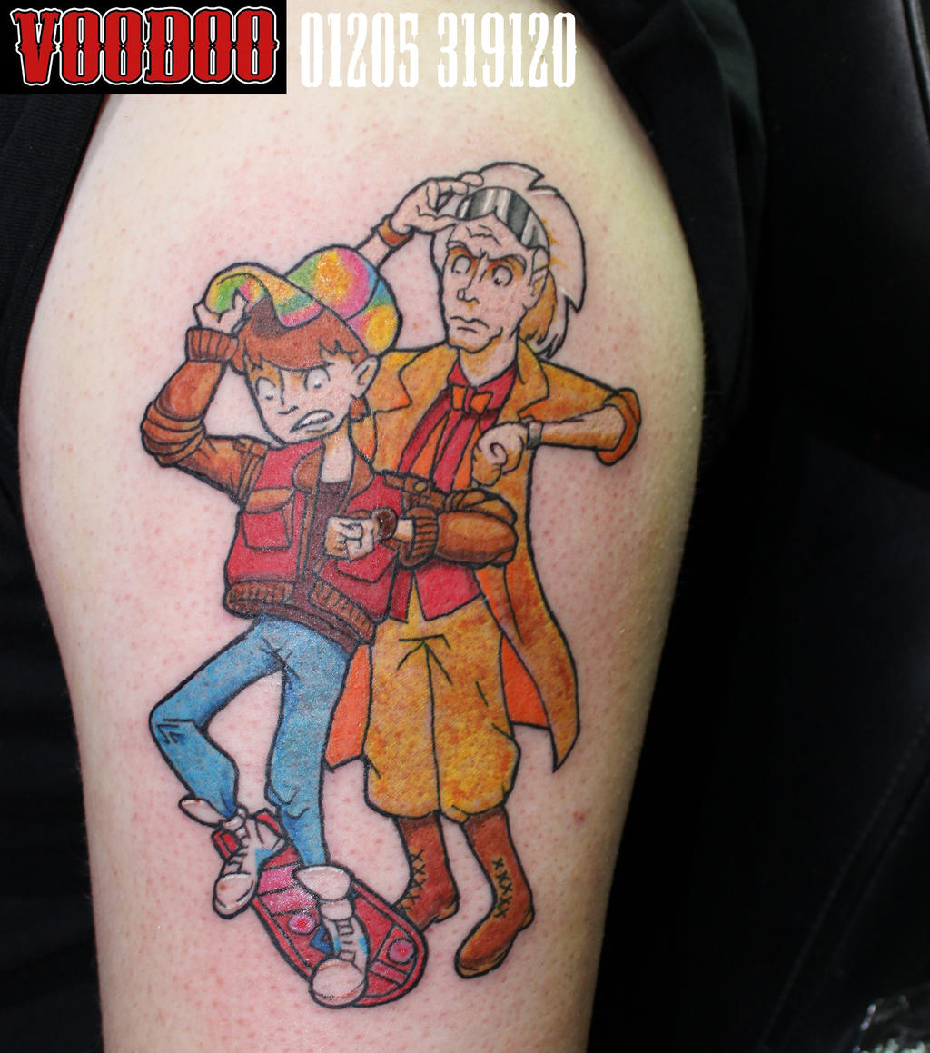 Back to the future tattoo by yayzus