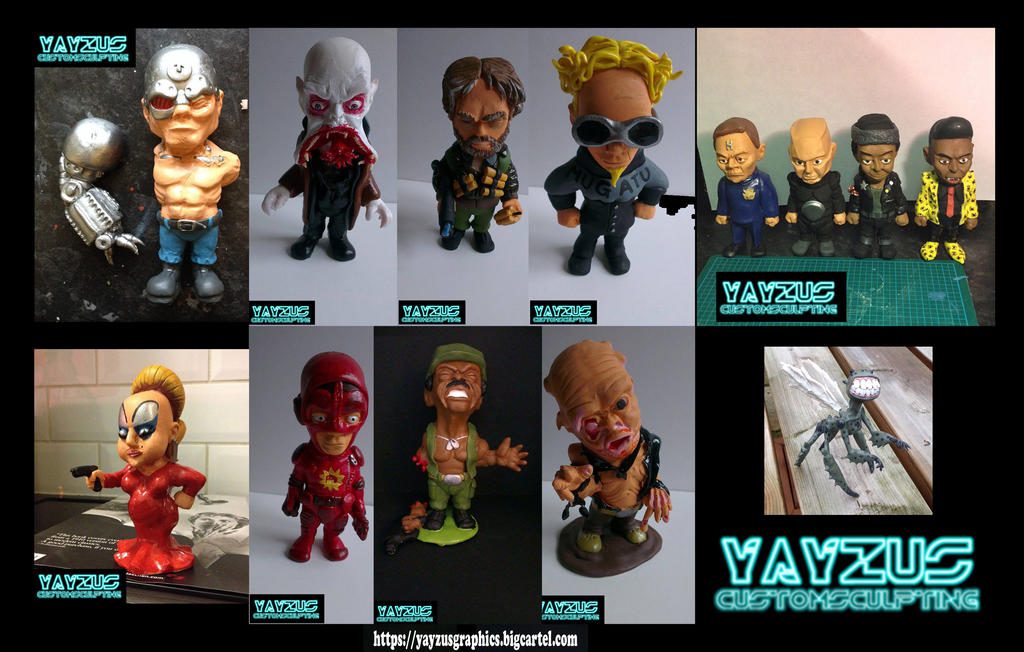 Gallery of sculpted work by yayzus