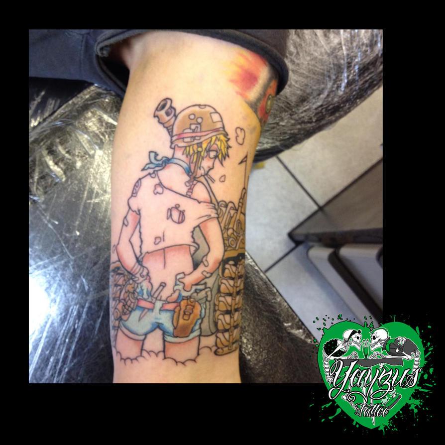tank girl tattoo by yayzus