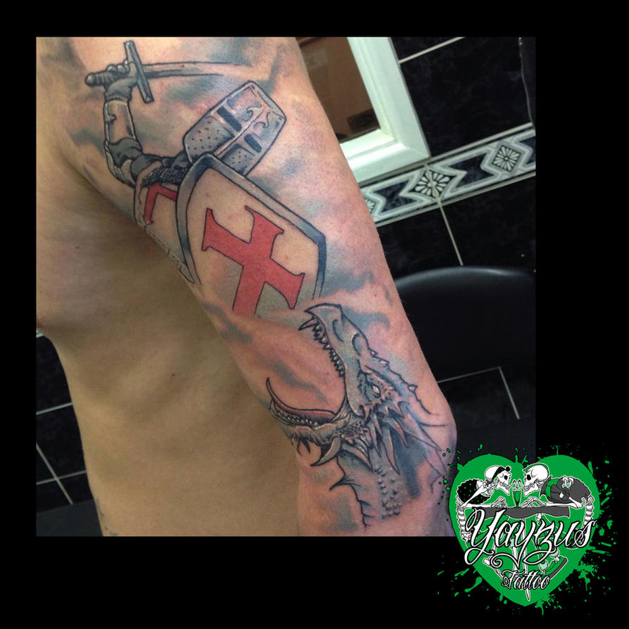 george and dragon tattoo by yayzus