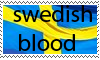 swedish blood stamp by solhuset