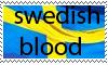 swedish blood stamp by solhuset
