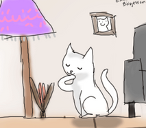 cat lick animation test by solhuset