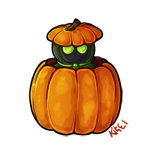 Darth Kitei and Halloween by TeSquiddie