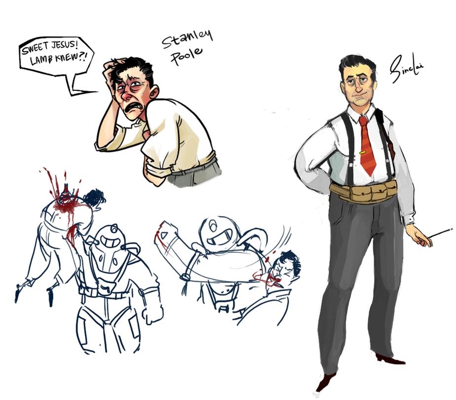 Bioshock 2 Doodle by monkeyoo